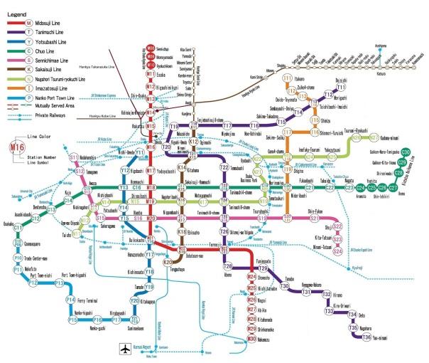 Osaka tube map